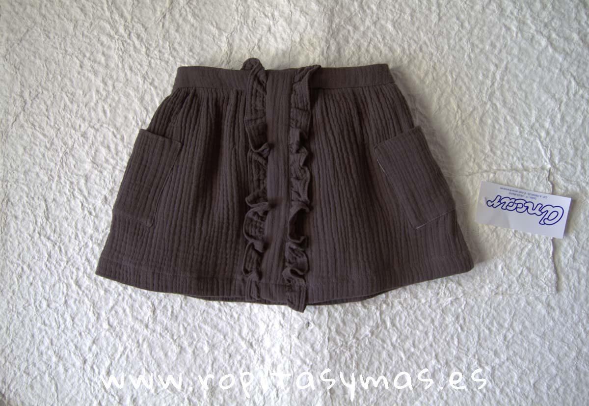 Falda bambula gris de ANCAR