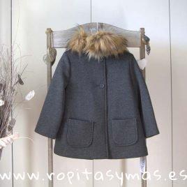 Abrigo chaquetón gris ANCAR, invierno 2019