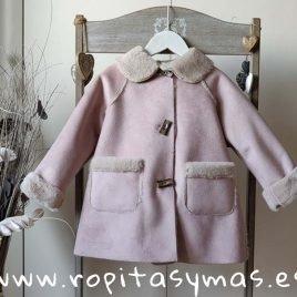 Abrigo bebé rosa ATHINA de MAMI MARIA, invierno 2019