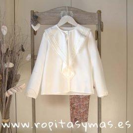Camisa blanco roto encaje de ANCAR, invierno 2019