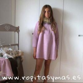 Vestido rosa lúrex AMATISTA de BELLA BIMBA, invierno 2019