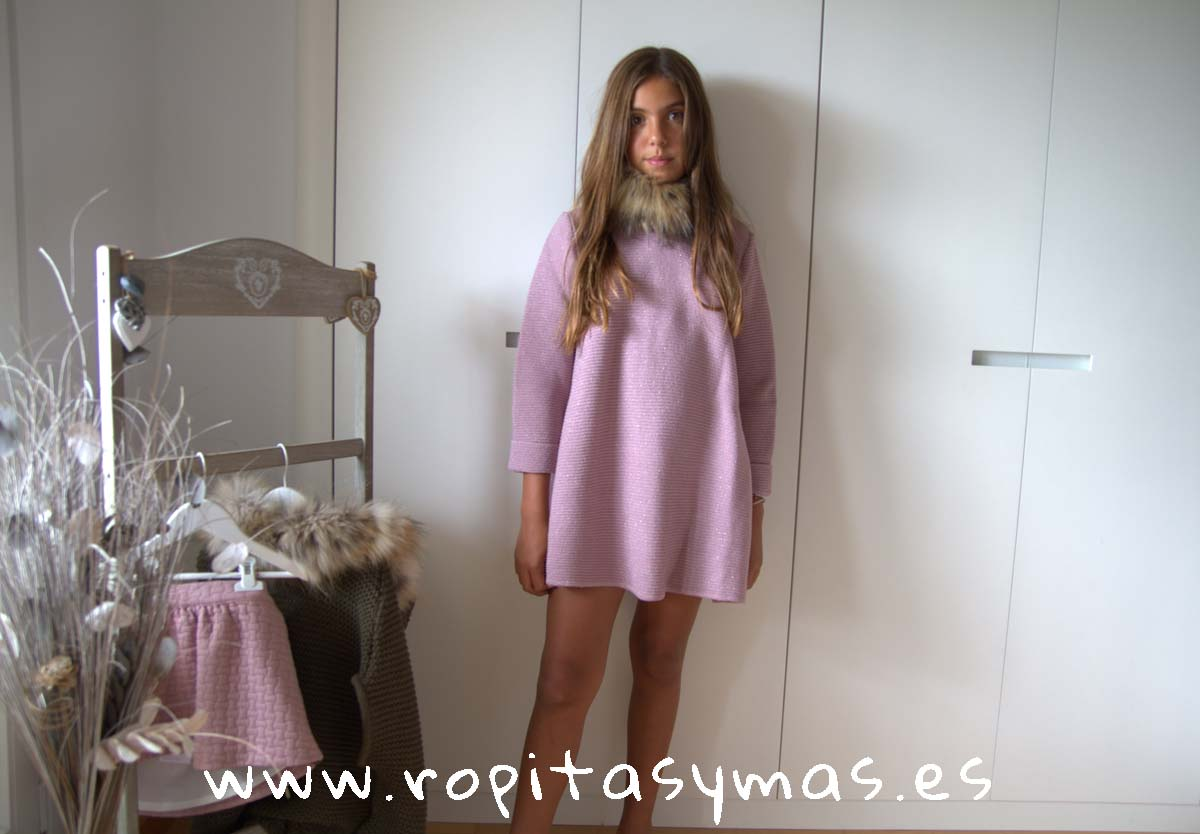 Vestido rosa lúrex AMATISTA de BELLA BIMBA