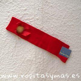 Calzas altas lazo y pompón rojas DORIAN GRAY
