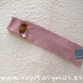 Calzas altas lazo y pompón rosa palo DORIAN GRAY