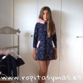 Vestido capucha CAMUFLAJE de LA PEPPA, invierno 2019