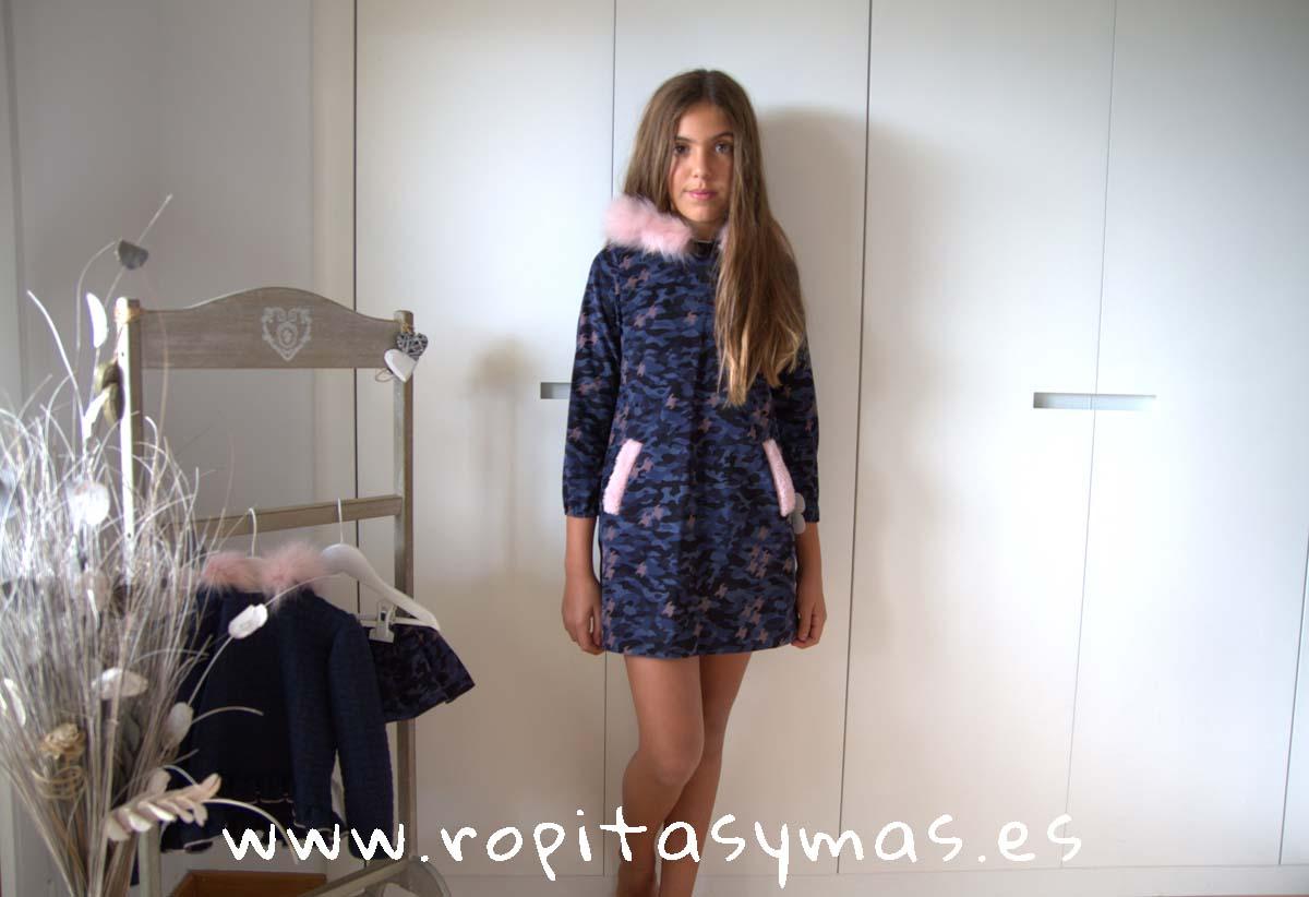 Vestido capucha CAMUFLAJE de LA PEPPA