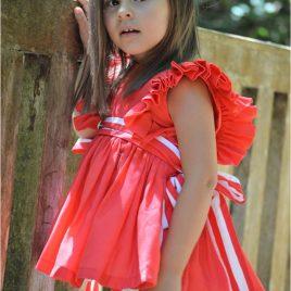 Vestido rojo VENECIA de NOMA, verano 2020