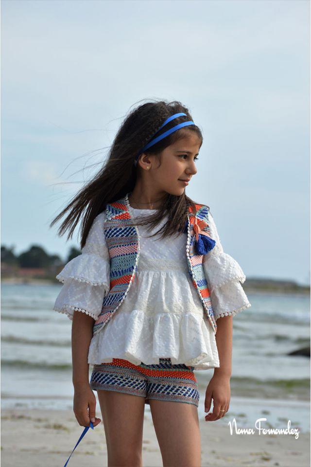 Conjunto short chanel y blusa blanca LENCERA de NOMA