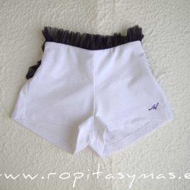 Pantalón corto blanco ROMANTIC de LE PETIT MARIETTE, verano 2020