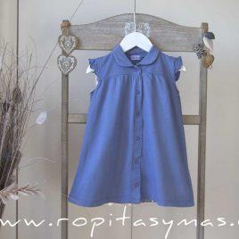 Vestido camisero azulón GEOMETRICO de ANCAR, verano 2020