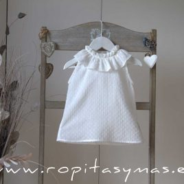 Camisa volante plumeti blanco de ANCAR, verano 2020