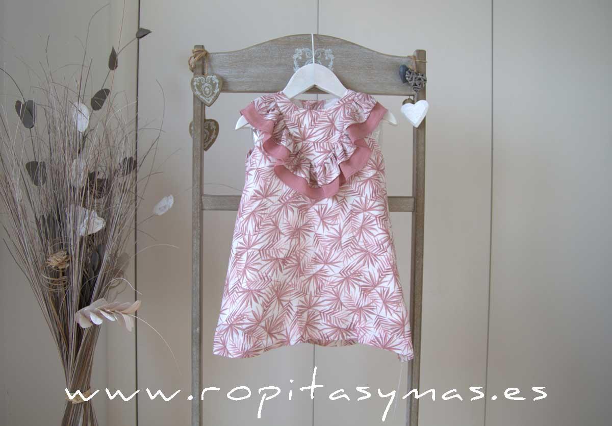 Vestido palmeras rosas de ANCAR