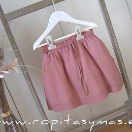 Falda rosa marsala de ANCAR, verano 2020