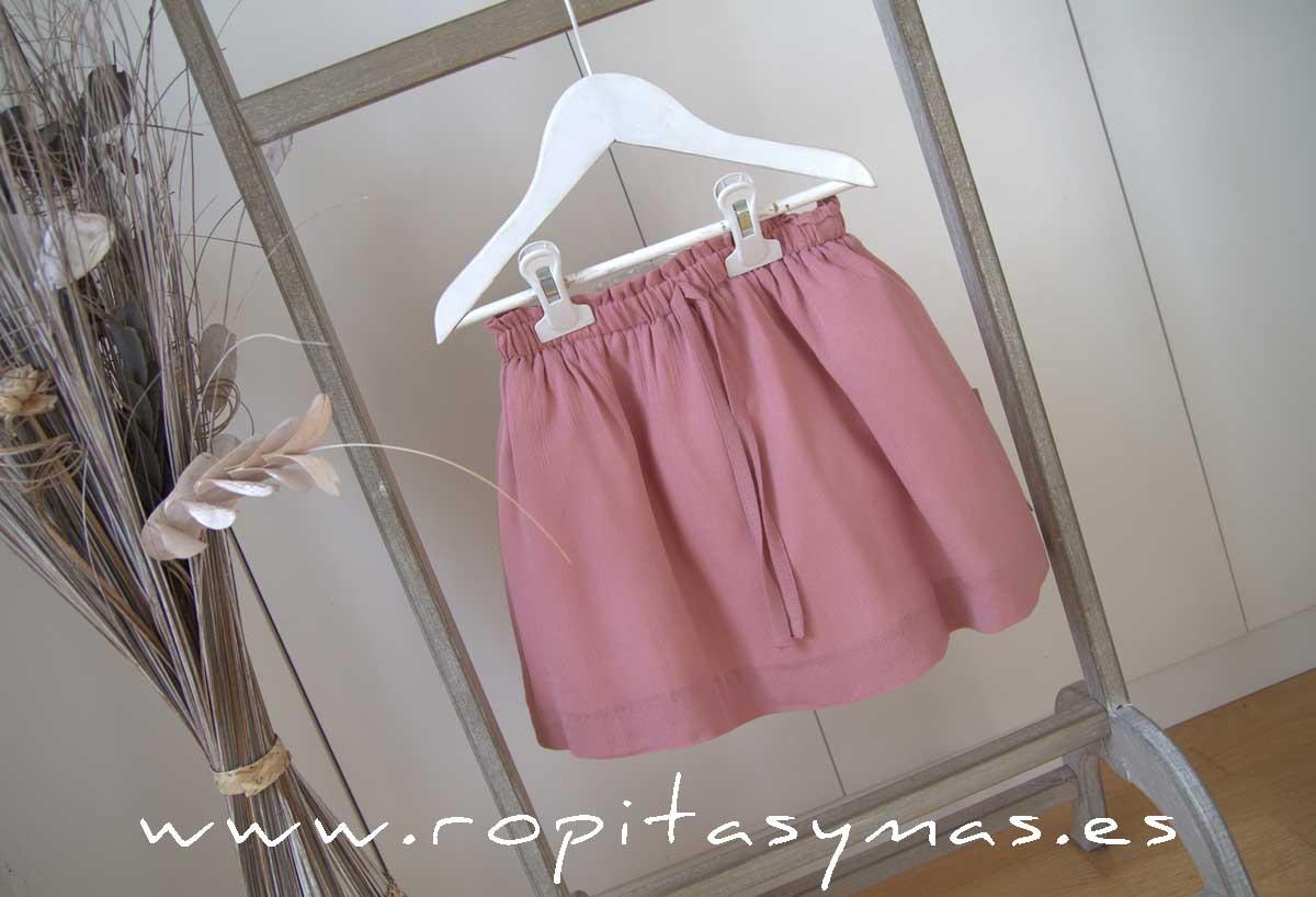 Falda rosa marsala de ANCAR
