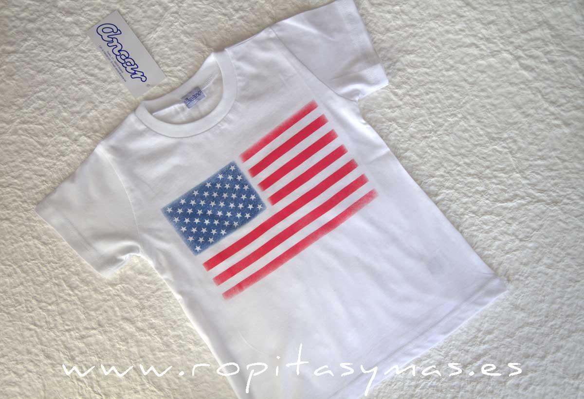 Camiseta unisex blanca USA de ANCAR