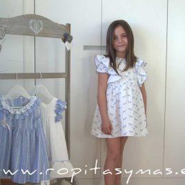 Vestido plumeti blanco cebras de ANCAR, verano 2020