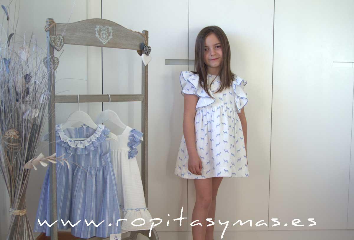 Vestido plumeti blanco cebras de ANCAR