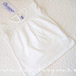 Camiseta blanca perforada de ANCAR, verano 2020