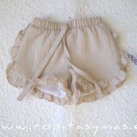 Short lencero bambula beige ARENA de ANCAR, verano 2020