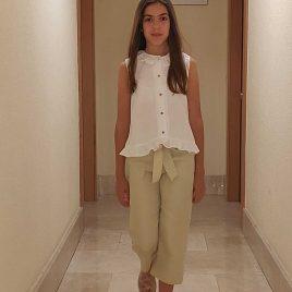 Pantalón largo ARENA rayas doradas de ANCAR, verano 2020