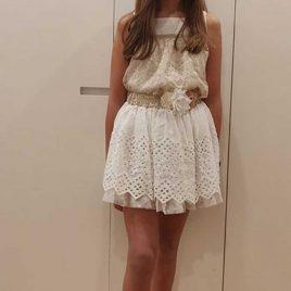 Falda blanca perforada SAHARA de KAULI, verano 2020