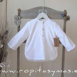 Camisa blanca acanalada de MIA Y LIA, verano 2020