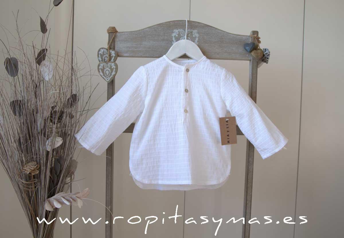 Camisa blanca acanalada de MIA Y LIA