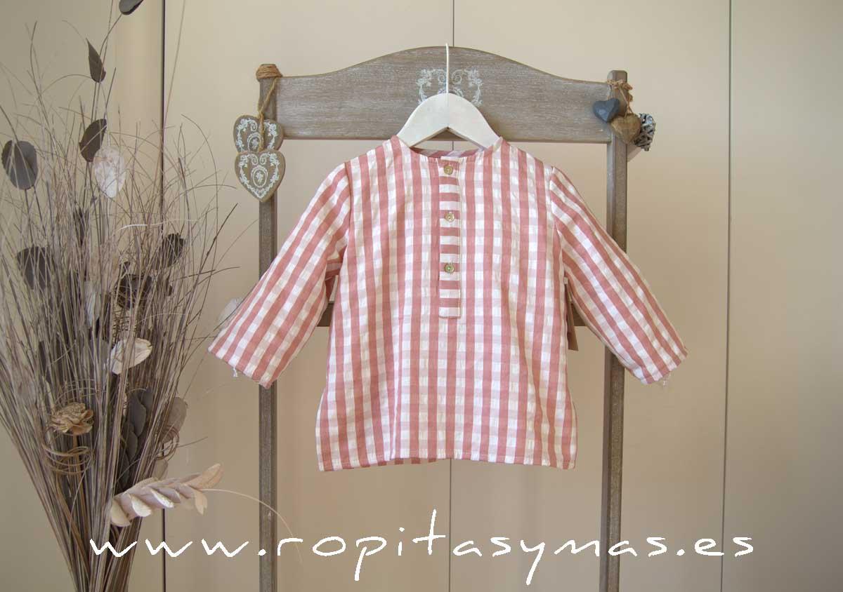 Camisa cuadros rosas de MIA Y LIA