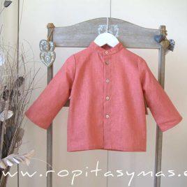Camisa lino coral de MIA Y LIA, verano 2020