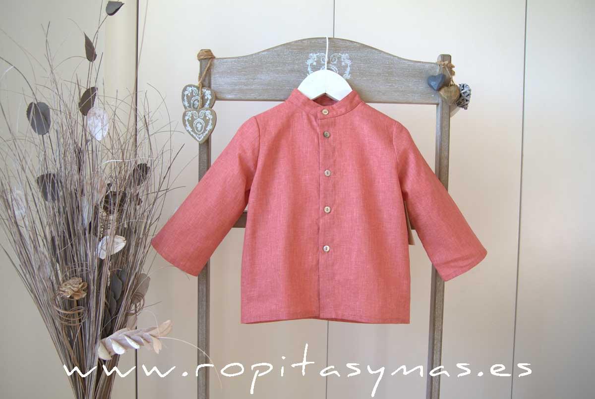 Camisa lino coral de MIA Y LIA