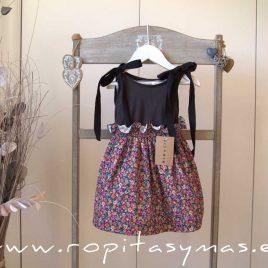 Falda de tirantes floral negra MIA Y LIA, verano 2020