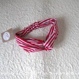 Turbante rayas rojas VENECIA de NOMA FERNÁNDEZ, verano 2020