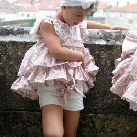 Conjunto short blanco y blusa hojas LOIRA de NOMA, verano 2020