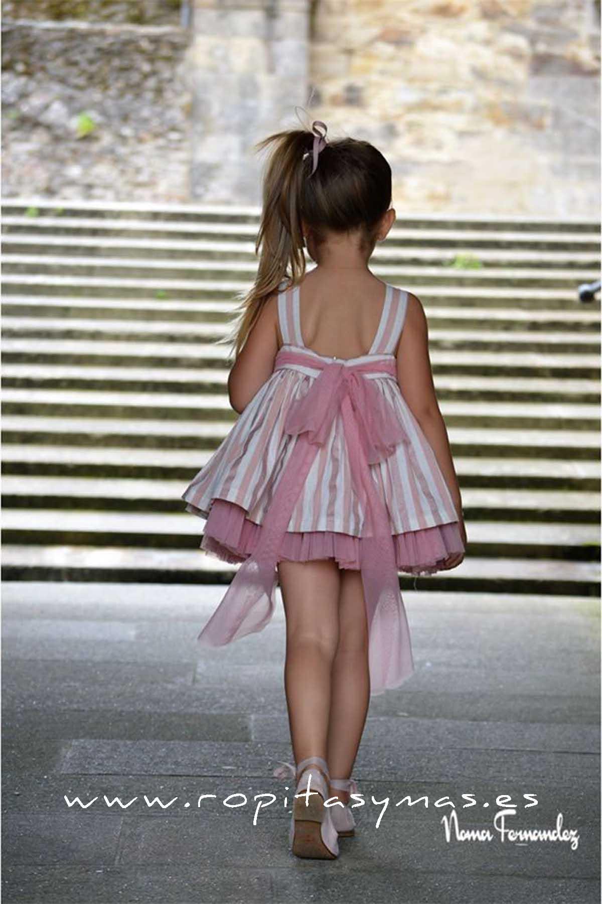 Vestido vuelo rosa TAMBRE de NOMA