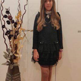 Vestido negro lurex y tul COSMOS de KAULI, invierno 2019