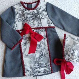 Vestido gris TOILE de MARY PAZ, invierno