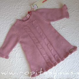 Vestido bebe rosa palo de Condor, invierno 2015