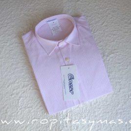 Camisa cuellos rayas rosas de Ancar, invierno 2014