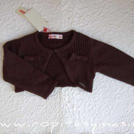 chaqueta lazo marrón chocolate de condor , invierno 2014