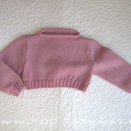 Jersey cortito rosa niña de Chupicanela