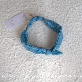 Turbante geométrico azul CIPRES de EVE CHILDREN, verano 2020