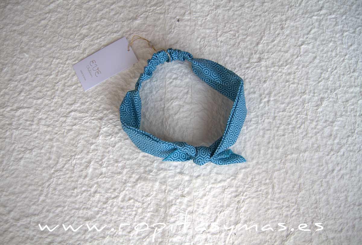 Turbante geométrico azul CIPRES de EVE CHILDREN
