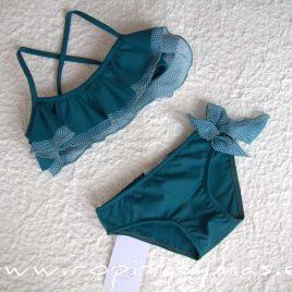 Bikini geométrico azul CIPRES de EVE CHILDREN, verano 2020