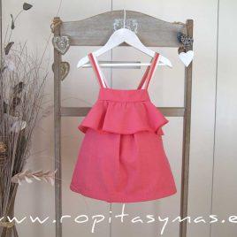 Vestido volante rosa CORALE de EVE CHILDREN, verano 2020