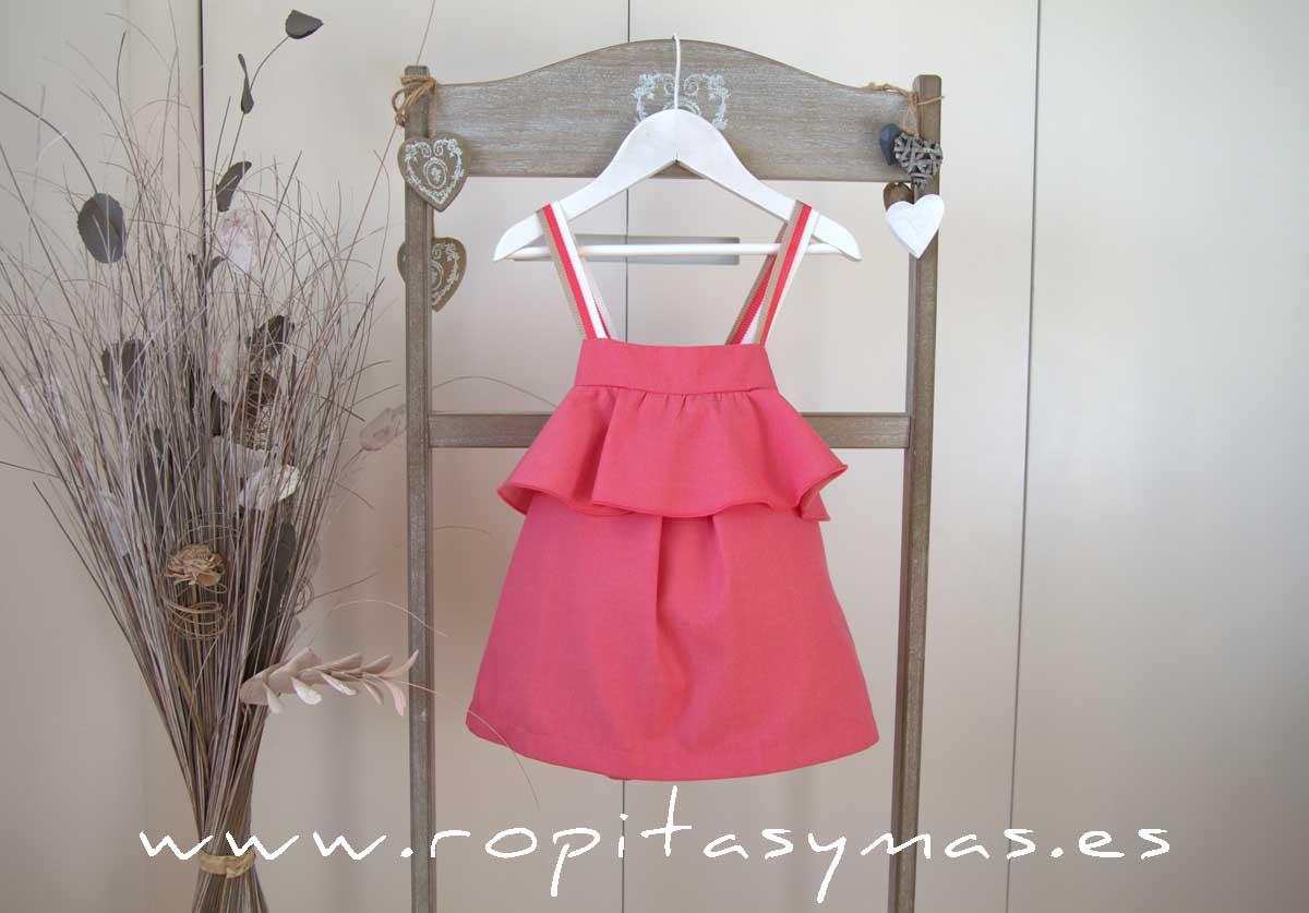 Vestido volante rosa CORALE de EVE CHILDREN