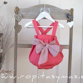 Pelele rosa lazo CORALE EVE CHILDREN, verano 2020
