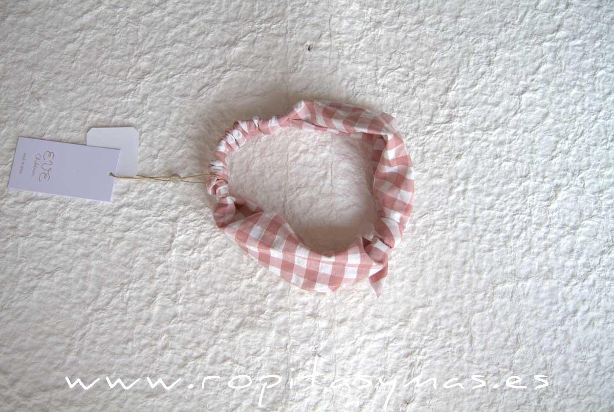 Turbante vichy rosa ROSE de EVE CHILDREN