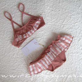 Bikini rosa volantes ROSE de EVE CHILDREN, verano 2020