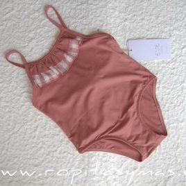 Bañador niña rosa volantes ROSE de EVE CHILDREN, verano 2020