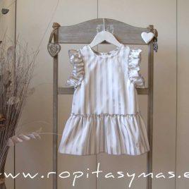 Blusón rayas plata TEEN de EVE CHILDREN, verano 2020